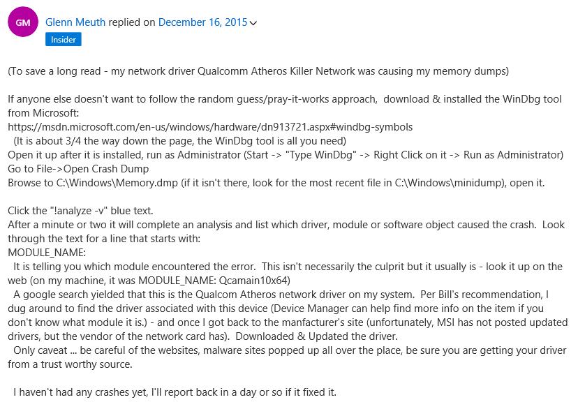 Qualcomm Atheros QCA61x4 driver issue in Windows 10